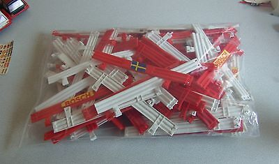 Scalextric Classic 1:32 Track Barriers Armco Fence C274 - Red White  x 94