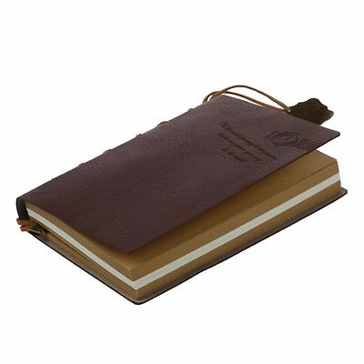 Classic Vintage Leather Bound Blank Pages Journal Diary Noteboo PF