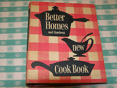 Vintage Better Homes and Gardens New Cook Book 5 Ring Bound 1953