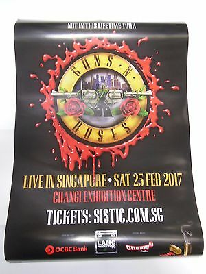 GNR Guns N Roses-Singapore Official Tour Poster 25 Feb 2017 A2 Size BN