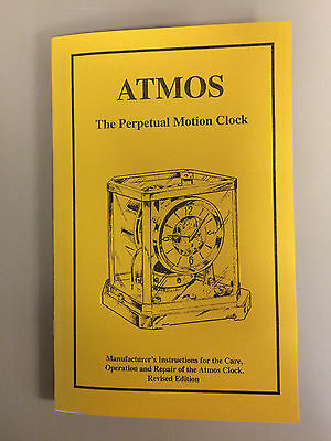 Jaeger LeCoultre Atmos Clock Repair Manual-Out of Print-Hard to Find!