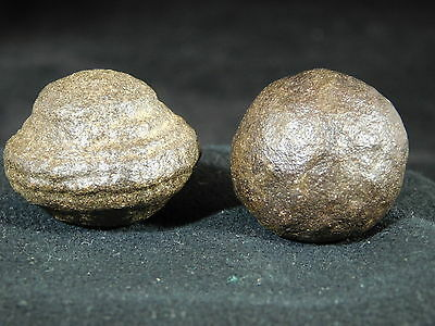 A Small 100% Natural Pair of Moqui Marbles or Shaman Stones from Utah 57.2gr