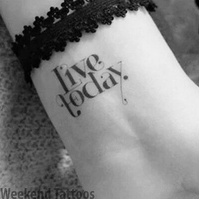 Small Live To Day Postive Thinking Quotes Temporary Tattoo Fake Sticker Art Body