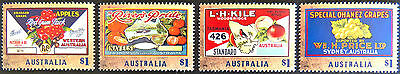 2016 Australian Stamps - Nostalgic Fruit Labels - Set of 4 MNH
