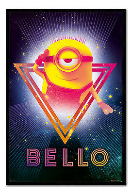 Framed Despicable Me 3 80's Bello Official Poster