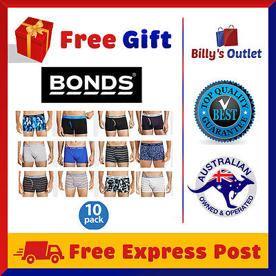 10 Pack Bonds Mens Underwear Guyfront Trunks Briefs Boxer Shorts Sizes S M L XL