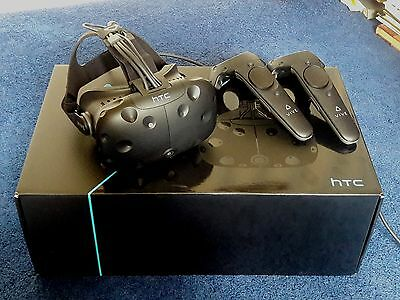 HTC Vive VR Headset In Original Box + All Accessories-Excellent Condition