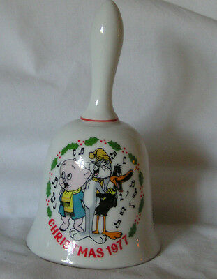 "Vintage Warner Bros Christmas Bell  ""Porky Daffy Bugs"" 1st Ed. Collectible Gifts"