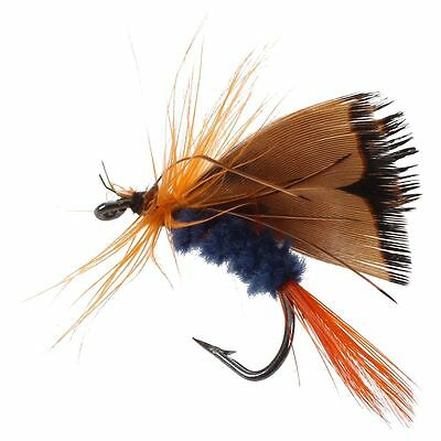 12pcs Fly Fishing Hooks Fishing Lure Feather Steel Bait Hook Tackle PF
