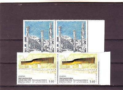 Andorra(French) - Sgf473-F474 Mnh 1993 Europa - Contempory Art - Pairs