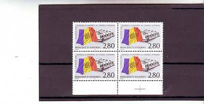 Andorra(French) - Sgf506 Mnh 1995 Admission Of Andorra To Council Europe Block 4