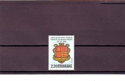 Andorra(French) - Sgf389 Mnh 1987 Arms - Visit Of French Co-Prince