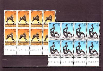 Luxembourg - Sg926-927 Mnh 1974 Europa - Sculptures - Blocks Of 8