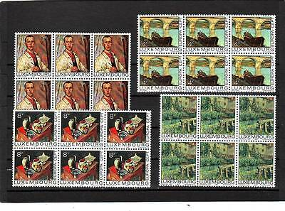 Luxembourg - Sg947-950 Mnh 1975 Europa - Paintings - Blocks Of 6 Cv £67.00
