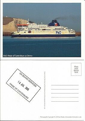 Ferry P&O Pride of Canterbury at Dover With Ship Stamp