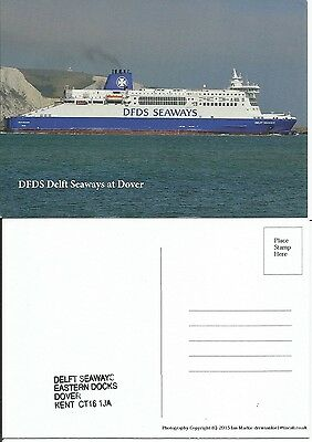 Ferry DFDS Delft Seaways at Dover With Ship Stamp
