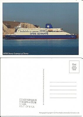 Ferry DFDS Dover Seaways at Dover With Ship stamp