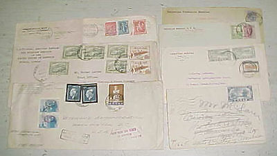 GREECE  USA CONSUL 1912, 1920's x4, 1947,1948 , ONE FROM SALONICA 7 DIFF.