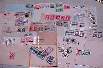 GREECE  20  SMALL COVERS 1930's MANY TO USA   INCLUDES  REGISTERED