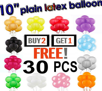 30 X Large PLAIN BALOONS BALLONS hellium BALLOONS Quality Party Birthday Wedding
