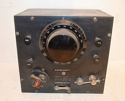 SCARCE 1922 MUSIC MASTER CRYSTAL RADIO RECEIVERw/BUZZER