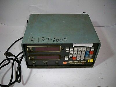 Bausch & Lomb Acu-Rite Pro 2-Axis Digital Readout POWERS ON Missing Button