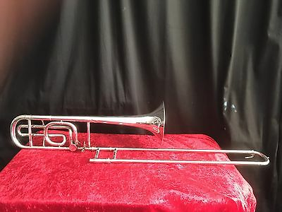 Besson International Silver Plated Bb/F Medium Bore Trombone