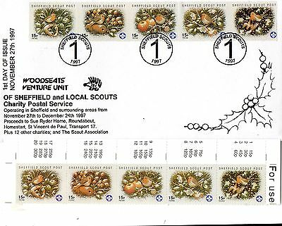 Sheffield Woodseats Venture Scouts 1997 First Day Of Issue + MINT Stamps