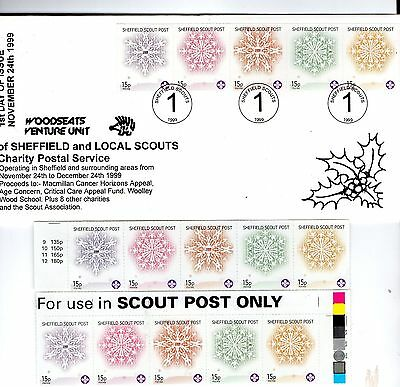 Sheffield Woodseats Venture Scouts 1999 First Day Of Issue + MINT Stamps