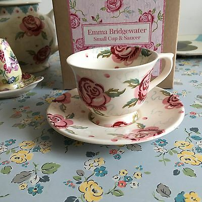 Emma Bridgewater Small Cup & Saucer - 1St Discontinued - Boxed