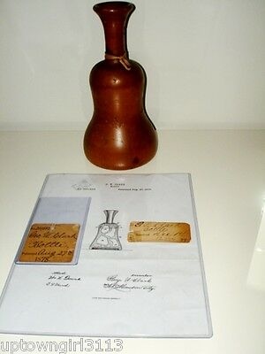 primitive 1878 Prototype SERVING ICE BOTTLE Patented GILDED AGE HISTORY Hotel