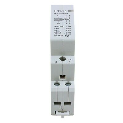AC 240V 25A 2 Reed AC Contactor 2P Closed Domestic 35 mm DIN Rail PF