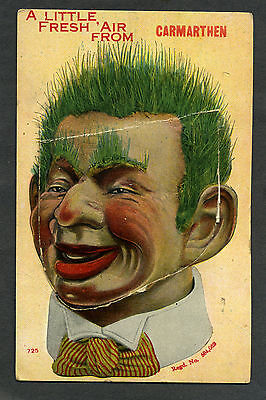 """novelty  'Pull-Out' card """"Puppet/Dummy"""" from CARMARTHEN, all views intact"""