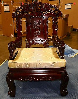 Chinese Throne Chairs with Chinese silk cushions