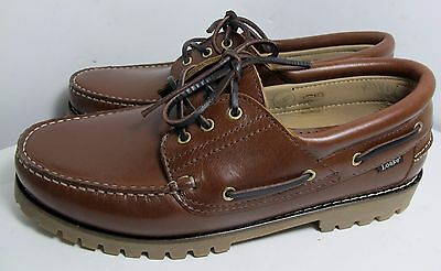 Loake 522ch Brown Waxy Deck Shoe 10.5 - New Slight Seconds RRP £105 (3080)