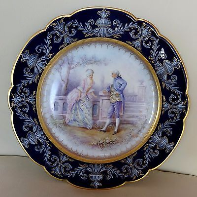 Beautiful 19th Century Sevres Porcelain Hand Painted Cabinet Plate #2 - Signed