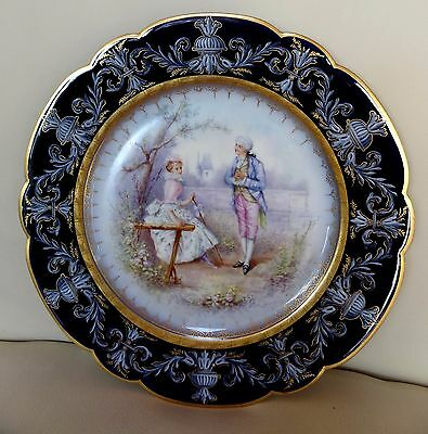 Beautiful 19th Century Sevres Porcelain Hand Painted Cabinet Plate - Signed