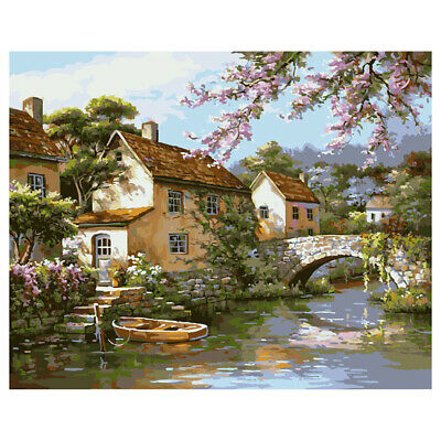 Landscape Frameless Picture Painting By Numbers DIY Oil Painting On Canvas PF