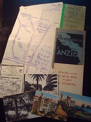 Job Lot / Collection Of Original Military Paperwork Inc Anzio & Other Rare Books