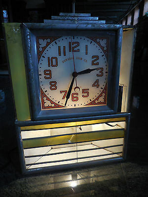 Durable Sign Co. VINTAGE Retro Electric Light Up Clock