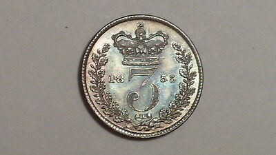 1835 Silver Threepence. William 1111.UNC.Choice Tone.British Milled.Rare as such