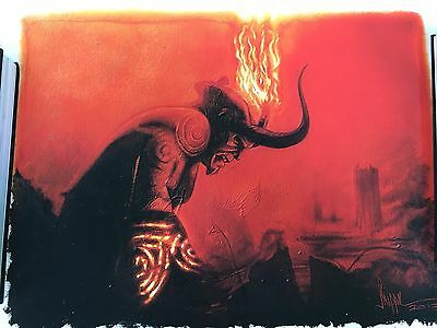 """""""And Upon His Brow is Set a Crown of Flame"""" Hellboy Print by Paul Shipper"""