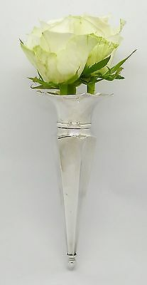 Very Rare Elegant Solid Sterling Silver Classic Car Posy Vase Holder Hm 1926