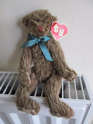 """TY ATTIC TREASURE BEAR """"WEE WILLIE"""", 2nd Gen, Green Ribbon, RARE & COLLECTABLE"""