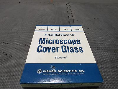 New 10 oz  Fisherbrand Microscope Cover Glass 12-546 18 Circle, No.2 Thickness