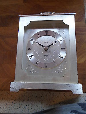 Vintage Acctim Carriage Mantel Clock, Silver Colour Clock