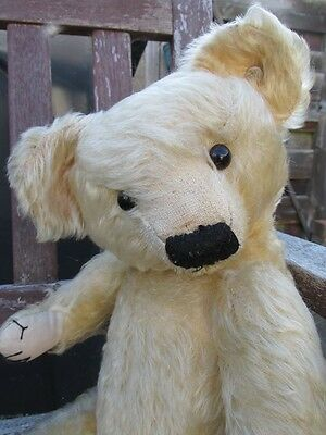 Old Vintage Antique Teddy Bear. Vintage Merrythought Teddy Bear