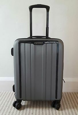 "Samsonite Grey Exoframe 20"" Cabin Size Hard Shell Suitcase Spinner Luggage"