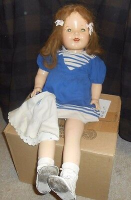 "Large 28"" Composition Doll With Sleep Eyes-Soft Body & Kate Greenaway Clothing"