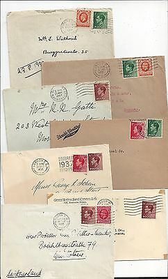 Britain 1930s Cover Lot, KE8 International Use